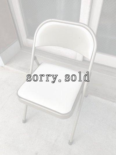 画像1: 折り畳み椅子 アイアン パイプ椅子 1960'S フォールディングチェア ビンテージ アンティーク