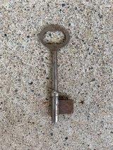 アーリーセンチュリー NOS デッドストック ブランクキー スケルトン キー カギ 鍵 錠 サビ シャビーシック キーホルダーに ペンダントトップに アンティーク ビンテージ