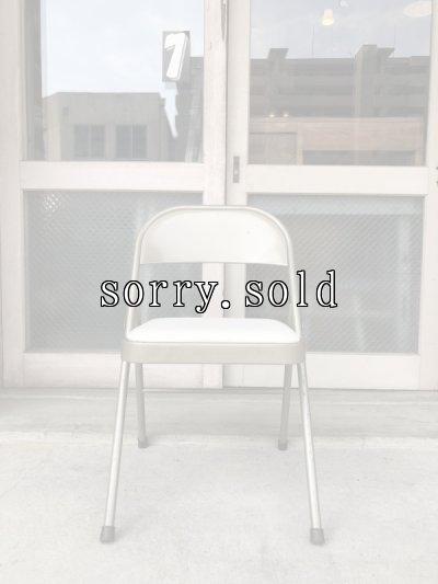 画像2: 折り畳み椅子 アイアン パイプ椅子 1960'S フォールディングチェア ビンテージ アンティーク