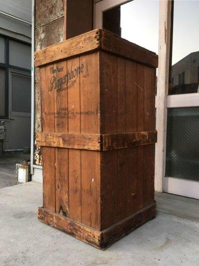 画像1: 1910'S 1920'S アーリーセンチュリー Playerphone Talking Machine Company Chicago IL フォノグラフ SP盤 戦前 ジャズ JAZZ JUMP BLUES JIVE 木箱 コンテナ ウッドボックス 蓄音機 victor ビクター アンティーク ビンテージ