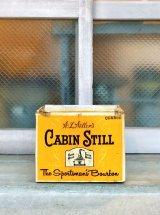 1960'S 70'S アドバタイシング BOX ダンボール リカー バーボン CABIN STILL Bourbon 店舗ディスプレイに アンティーク ビンテージ