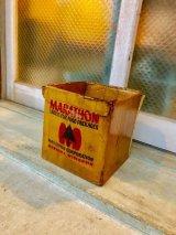 1960'S 70'S アドバタイシング BOX ダンボール Marathon Old home National 店舗ディスプレイに アンティーク ビンテージ