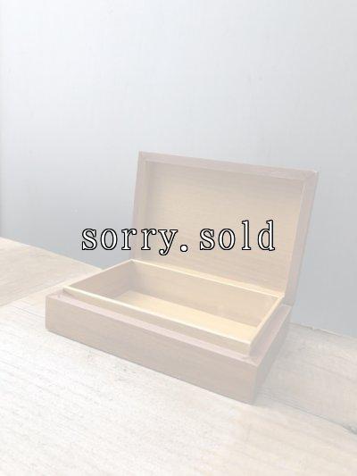 画像2: ポーランド製 ウッドボックス 木箱 小物入れ ひまわり POLAND 装飾付き アンティーク ビンテージ