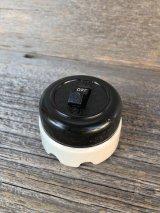 アメリカ製 H&H 大型 サーフェイススイッチ レバースイッチ トグルスイッチ ベークライト ポーセリン ブラック&ホワイト アンティーク ビンテージ