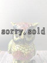 1950'S 60'S フクロウ owl オウル フラワーベース 多肉直物 鉢 ポット オブジェ 不苦労 陶器 アンティーク ビンテージ