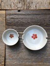 サクラ 2PCS/SET 桜 さくら チェリーブロッサム 大正ロマン 昭和レトロ 灰皿 アッシュトレイ 陶器 花柄 MADE IN JAPAN アンティーク ビンテージ