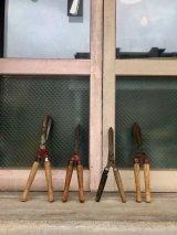 1960'S 70'S 大ハサミ オブジェ 工具 大型 鋏 ハサミ はさみ シザー ウッド アイアン ガーデニング ディスプレイに アンティーク ビンテージ
