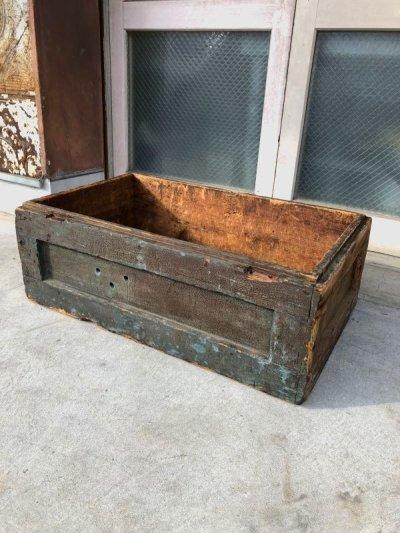 画像1: 超大型 1930'S 40'S ウッドボックス 多重 ペイント シャビーシック 木箱 コンテナ ストレージBOX ツールボックス アンティーク ビンテージ