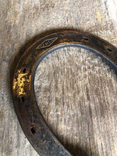 画像2: アイアンオブジェ HORSE SHOE 蹄鉄 ひづめ 知恵の輪?! Puzzle ring ウォールデコ ディスプレイに アンティーク ビンテージ