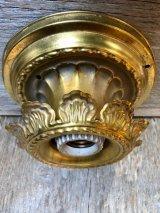 ビクトリアン シーリングマウント&ウォールマウントライト 装飾 ベアバルブ 1灯 真鍮 アンティーク ビンテージ