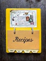 1960'S 70'S Recipes レシピホルダー クッキングメモ メモ レシピ cafe レストラン アンティーク ビンテージ