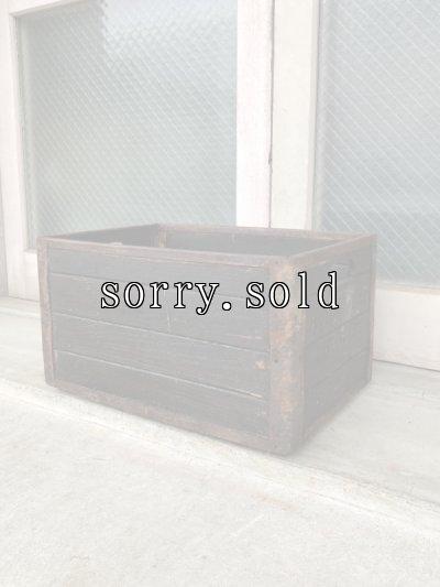 画像1: ミルククレート ミルクボックス ミルクBOX ボトルケース ウッドボックス 木箱 横長 レア ストレージボックス アンティーク ビンテージ