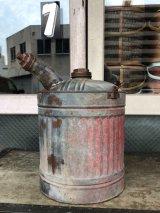 OLD ウッドハンドル 携行缶 ガソリン缶 オイル缶 ティン缶 キャンプに! レースに! 大型 アンティーク ビンテージ