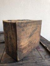ウッドボックス 木箱 FLAVORING EXTRACTS ストレージボックス アンティーク ビンテージ
