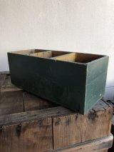 ウッドボックス PRUNE グリーン シャビーシック ペンキ ペイント 木箱 アウトドア キャンプ ストレージボックス アンティーク ビンテージ