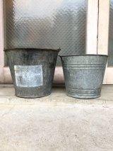 1930'S 40'S bucket トラッシュカン バケツ バケット シャビーシック FIRE ダストボックスなどに ブリキ アイアン ビンテージ アンティーク