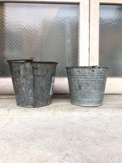 画像2: 1930'S 40'S bucket トラッシュカン バケツ バケット シャビーシック FIRE ダストボックスなどに ブリキ アイアン ビンテージ アンティーク