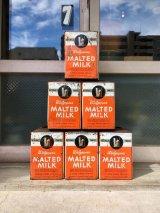 1940'S 50'S walgreen's MALTED MILK can ミルク缶 ブリキ ティン缶 見せる収納 ストレージ フラワーベース 多肉植物 サボテンポット ガーデニング アンティーク ビンテージ