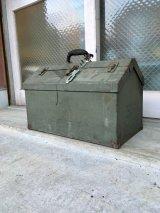 1940'S 50'S ツールボックス 大型 メタルボックス ミリタリー アーミー 工具箱 収納ケース インダストリアル アンティーク ビンテージ