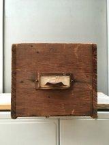 ウッドボックス 木箱 ストレージボックス 引き出し ドロワー 中型 アンティーク ビンテージ
