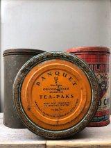 1930'S 40'S 50'S ティン缶 3個セット BANQUET TEA-PAKS 紅茶 缶 HILAND POTATO CHIPS スコットランド ケルト アドバタイジング アンティーク ビンテージ