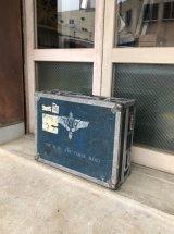 U.S.A.F. エアフォースブルー U.S.AIRFORCE BAND ステンシル ANVIL CASES アンビルケース アンヴィル ミリタリーコンテナ 収納ケース 機材ケース ストレージBOX 店舗什器に アンティーク ビンテージ
