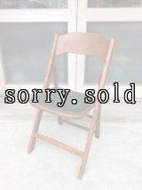 1940'S 50'S WORTHINGTON フォールディング チェア ウッド チェアー 椅子 折りたたみ椅子 ステンシル ビンテージ アンティーク