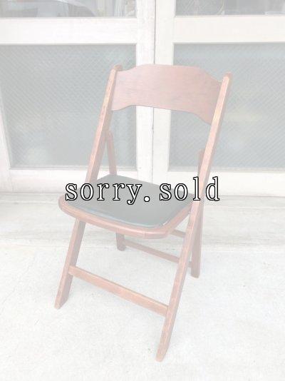 画像1: 1940'S 50'S WORTHINGTON フォールディング チェア ウッド チェアー 椅子 折りたたみ椅子 ステンシル ビンテージ アンティーク