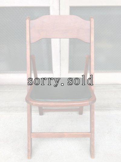 画像2: 1940'S 50'S WORTHINGTON フォールディング チェア ウッド チェアー 椅子 折りたたみ椅子 ステンシル ビンテージ アンティーク