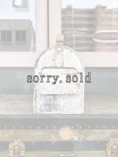 画像2: 1930'S 40'S U.S.MAIL BOX シャビーシック ペイント ステンシル ミルクホワイト ペンキ アメリカ ポスト メールボックス メタル アンティーク ビンテージ