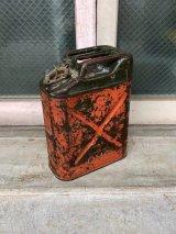 1950'S 60'S Q.M.C. U.S.A. ガソリン 携行缶 JERRYCAN ジェリ缶 SAFFTY CAN ヘヴィーデューティー 蓋付き 実用可 アンティーク ビンテージ