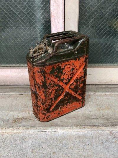 画像1: 1950'S 60'S Q.M.C. U.S.A. ガソリン 携行缶 JERRYCAN ジェリ缶 SAFFTY CAN ヘヴィーデューティー 蓋付き 実用可 アンティーク ビンテージ