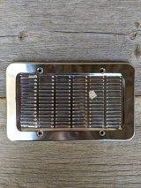 クロムメッキ 通気口カバー デッドストック ベントカバー スピーカーカバー インターホンカバー インダストリアル系 アンティーク ビンテージ