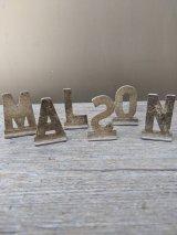 アルファベット レターブロック レタープレート mail box サイン ハウスナンバー キャスト アルミニューム 金物 アンティーク ビンテージ