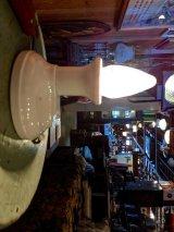 1930'S 40'S パウダールームランプ バスルームライト ウォールマウントブラケットライト 1灯 ベアバルブ ポーセリン アンティーク ビンテージ