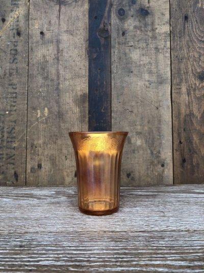 画像2: 1900'S 10'S 20'S カーニバルグラス ガラス タンブラー ガラス ピンク アンティーク ビンテージ