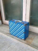 メタルトランク ミニトランク ストライプ ボーダー スーツケース 店舗什器に アンティーク ビンテージ