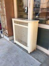 1940'S 50'S ホワイト シャビーシック オイルヒータカバー 店舗什器 チェスト ディスプレイ台 アンティーク ビンテージ