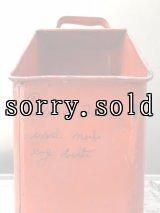 オイル缶カスタマイズ ツールボックス フラワーベース プランター ダストボックス tin buckets trash can トラッシュカン バケツ シャビー ゴミ箱 サインペイント アンティーク ビンテージ