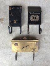 1950'S 60'S U.S.MAIL BOX アメリカ ポスト メールボックス ウォールマウント 店舗什器 内装 ベル クラウン 王冠 装飾 真鍮 スチール アイアン アンティーク ビンテージ