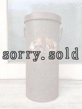 1910'S 20'S ティン缶 アドバタイジング缶 トラッシュカン ゴミ箱 傘立て ブリキ シャビーシック ウッドハンドル 蓋付 アドバタイジング アンティーク ビンテージ