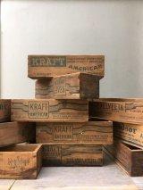 1930'S 40'S 50'S CHEESE CRATE チーズBOX チーズクレート ショップカード ホルダー 名刺入れ WINDSOR VELVEETA KRAFT AMERICAN ウッドボックス ミニ 木箱 チーズボックス アドバタイジング アンティーク ビンテージ