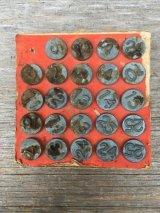 1940'S ACRO NUMBERING TACKS WINDOW MARKERS プッシュピン ナンバリング タック 押しピン 鋲 真鍮 アンティーク ビンテージ