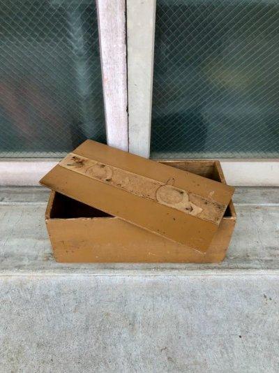 画像2: ウッドボックス 蓋付き シャビーシック ベージュ 木箱 コンテナ ストレージBOX ツールボックス アンティーク ビンテージ