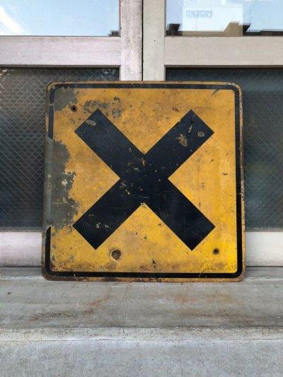 画像2: 道路標識 看板 サイン アイアン ROAD SIGN RAILROAD CROSSING 大型 アンティーク ビンテージ