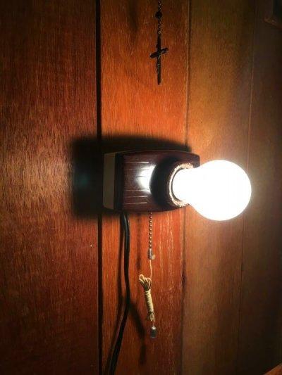 画像1: 1930'S 1940'S ウォールマウント&シーリングマウント ベークライト ポーセリン 1灯 アンティーク ビンテージ