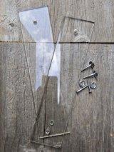 1930'S 40'S レア! ドア プッシュプレート クリアガラスプレート 押板 ガラス GLASS アンティーク ビンテージ