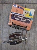 1960'S 70'S NOS デッドストック MADE in USA EKCO Fairfield トゥースブラシホルダー 歯ブラシホルダー スチール クロームメッキ アメリカ製 シンプル アンティーク ビンテージ
