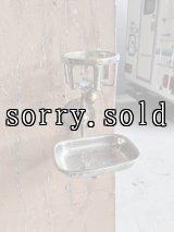 1910'S 20'S 30'S UNIVERSAL アーリーセンチュリー ビクトリアン SOAPDISH カップホルダー station bathroom ウォールマウント ビンテージプランビング 洗面 ソープディッシュ 石鹸台 真鍮 シャビーシック アンティーク ビンテージ