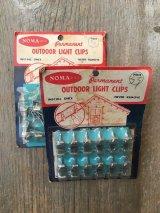 1950'S 60'S OUTDOOR LIGHT CLIPS NOMA LITES,INC. MADE IN JAPAN ネイル ライトクリップ フック ハンギングクリップ 釘 アドバタイジング アンティーク ビンテージ
